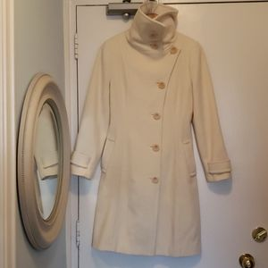 Aritzia Wilfred Virgin Wool/Cashmere/Poly Coat